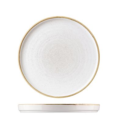 PLATE WALLED WHT 260MM, C/HILL STONECAST
