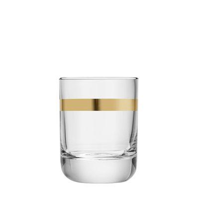 GLASS ROCKS GOLD RIM 320ML, LIBBEY ENVY