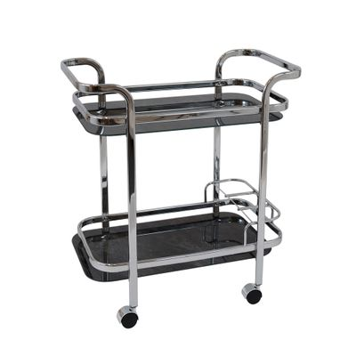 TROLLEY SILVER/BLACK MARBLE RECT