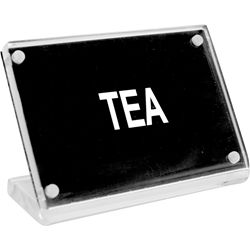 ACRYLIC SIGN WITH S/S MAGNET PLATE- TEA