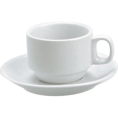 CUP COFFEE STACK WHITE 225ML, VITROCERAM