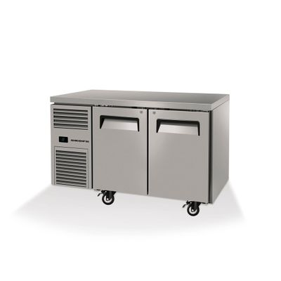 UNDERCOUNTER FREEZER 2 DOOR SOLID SKOPE