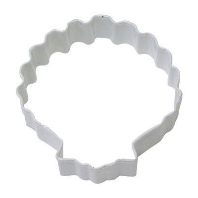 COOKIE CUTTER SEASHELL 8.25CM WHITE