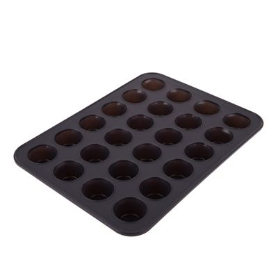 MUFFIN PAN MINI 24 CUP SILICONE, D/BAKE