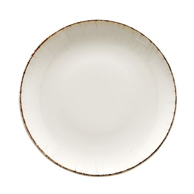 PLATE COUPE WHITE/BRN 210MM, BONNA RETRO