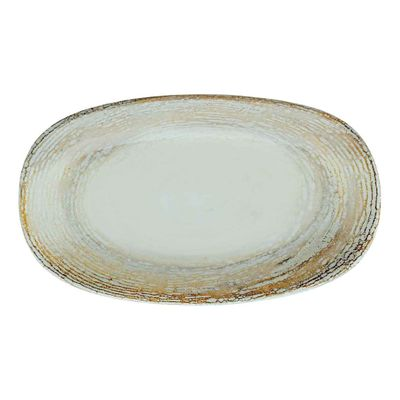 PLATE OVAL CREAM 150X85MM, BONNA PATERA