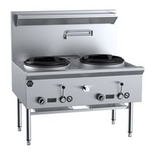 WOK TABLE WATERLESS TWO HOLE, B+S