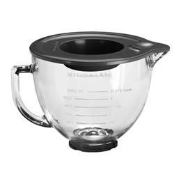 BOWL GLASS 4.7LT W/LID, KITCHENAID