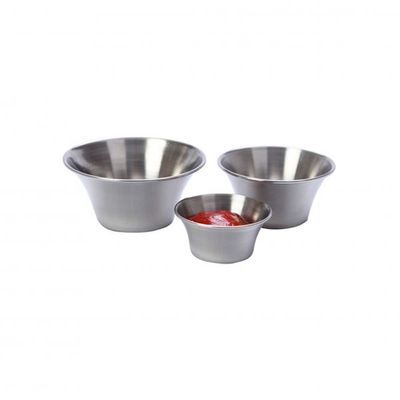 SAUCE CUP FLARED S/STEEL, 80X35MM