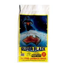 GARBAGE BAG H/DUTY 72LT SUPERBLACK 50PKT
