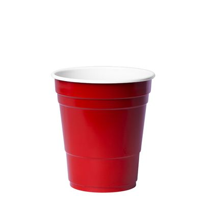CUP MINI PLASTIC RED 285ML 640CTN, REDDS