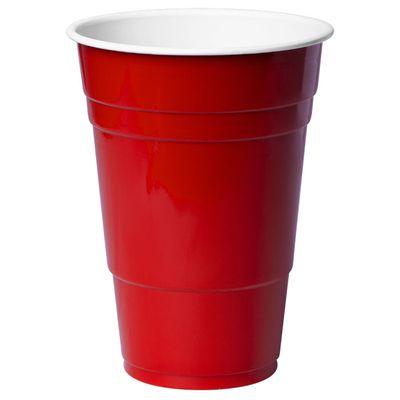 CUP PLASTIC RED 425ML 300CTN, REDDS