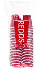 CUP MICRO PLASTIC RED 60ML 50PK, REDDS