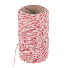 COOKING TWINE COTTON RED/WHT 60MTRS