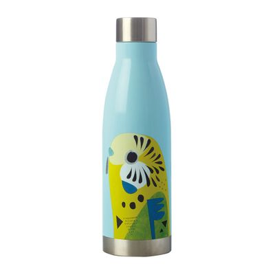 BOTTLE DBL WALL BUDGERIGAR 500ML, M&W