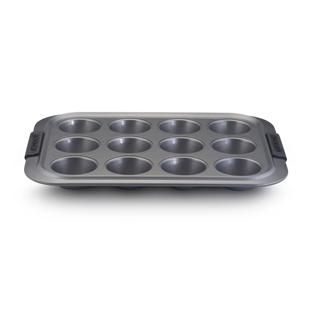 MUFFIN PAN 12 CUP, ANOLON S/GRIP