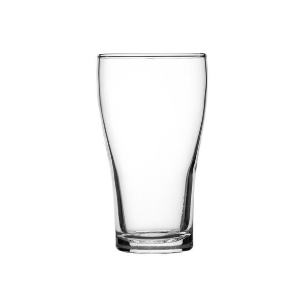 BEER GLASS 425ML NCLEATD CONICAL, CROWN