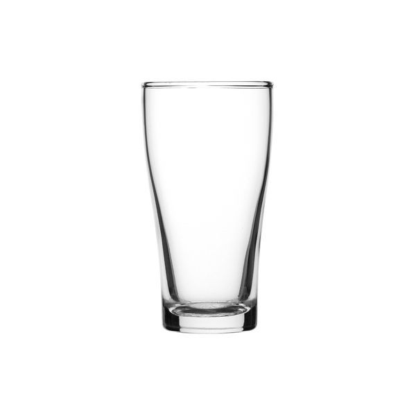 BEER GLASS 285ML N/CLEATD CONICAL, CROWN