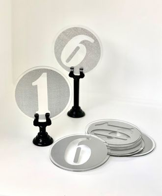 TABLE NUMBER SET 1-10 ACRYLIC & GREY TXT