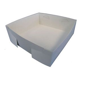 CAKE TRAY WHITE MILKBOARD 200CTN
