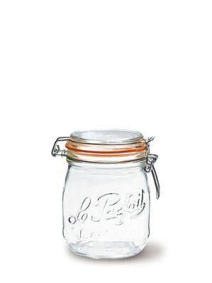 JAR GLASS W/CLIP TOP, LE PARFAIT
