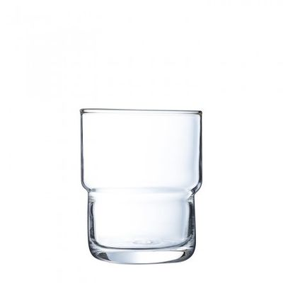 GLASS TUMBLER 160ML TEMPERED, ARC LOG