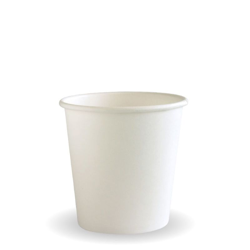 CUP WHT 4OZ SINGLE WALL 50PCE
