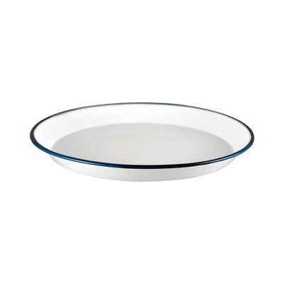 PLATE SHARE WHITE/BLUE 30CM, URBAN STYLE