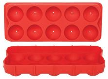 ICE CUBE TRAY BALL RED SILICONE, DLINE