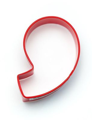 COOKIE CUTTER NUMBER 9 RED
