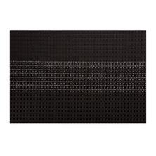 PLACEMAT RECT WOVEN BLACK 45X30CM, M&W