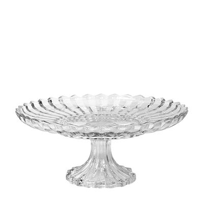 CAKE STAND CUT GLASS 31CM, FARTHING