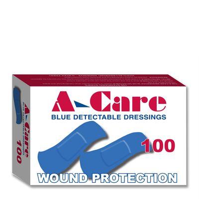 BANDAID BLUE 100PK, A-CARE