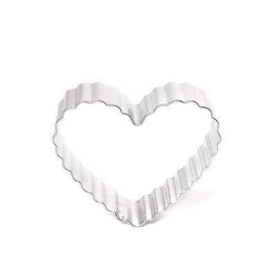 CUTTER COOKIE FLUTED HEART 8.3CM