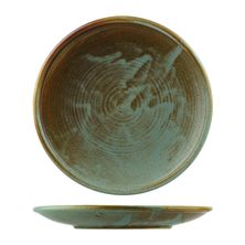 PLATE COUPE FIRED EARTH 260MM, NOURISH