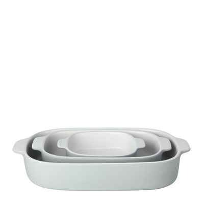 BAKING DISH SET OF 3 GREY, M&W FEAST