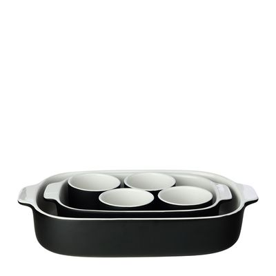 BAKING DISH SET OF 6 BLACK, M&W FEAST