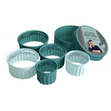COOKIE CUTTER SET-5 FLUTED, JAMIE OLIVER