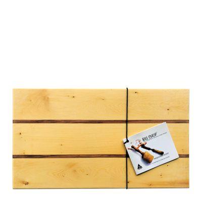 BOARD RECT 400X220X20 BLACKWOOD/PINE