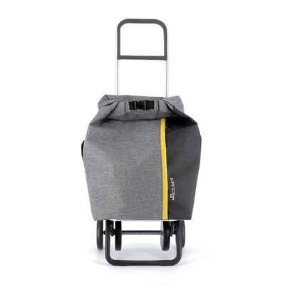 SHOPPING TROLLEY GRIS, TWEED ROLLTOP