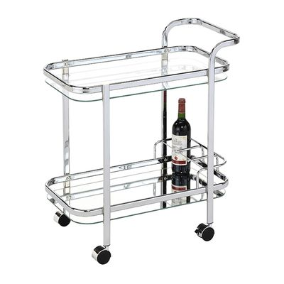 TROLLEY RECT SILVER MIRROR, LOUNGE