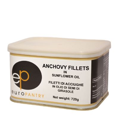 ANCHOVIES FILLETS IN SUNFLOWER OIL, 720G