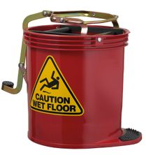 BUCKET CONTRACT WRINGER RED 15LT, OATES