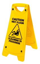 SIGN AFRAME-CAUTION WET FLOOR-YELL,OATES