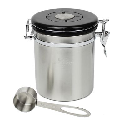 COFFEE CANISTER MED ST/S, COFFEE CULTURE
