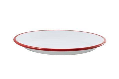 SHARE PLATE 30CM WHT/RED RIM, U/STYLE
