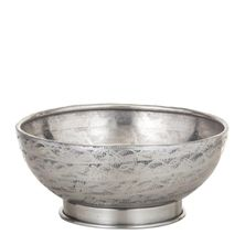 BOWL FOOTED ANTIQUE SILVER 20CM, D&W