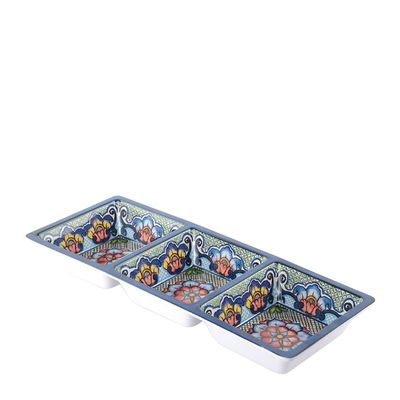SERVING TRAY 3COMP MELAMINE, PREPARA