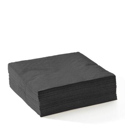 EMBOSSED COCKTAIL NAPKINS 2-PLY BLACK, BIOPAK