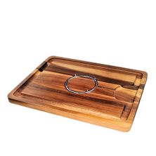 CARVING BOARD W/SPIKE ACACIA 40X30CM,D&W